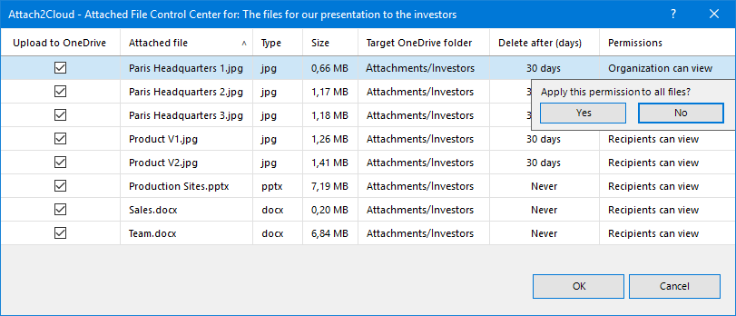 """Create a rule to have Attach2Cloud setting the """"Delete after"""" value you just entered as the default value for the attached files of the same type"""
