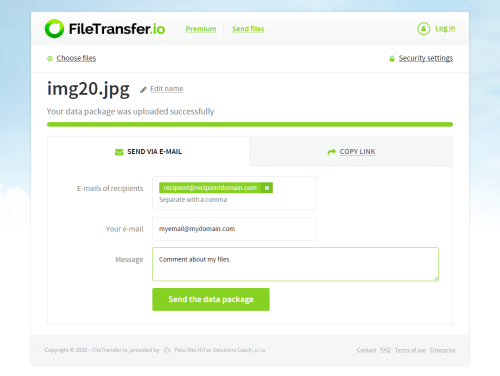 An alternative to FileTransfer.io that would be just as easy to use, is hard to find.
