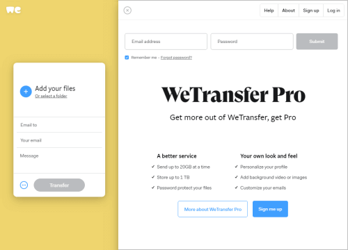 An alternative to WeTransfer that woudl be as easy to use may be hard to find.