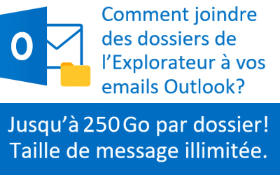Comment attacher des dossiers aux emails Outlook en faisant un simple glisser-déposer.
