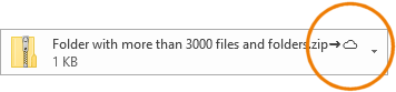 How can such a large file be attached to an Outlook email?