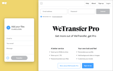 An alternative to WeTransfer (based on Outlook and OneDrive) for sharing large files