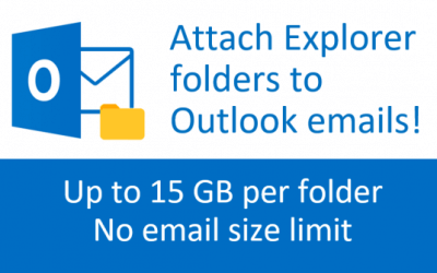 How to attach Explorer folders to Outlook emails