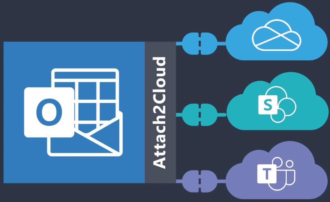 Plateformes supportées par Attach2Cloud: Windows 10, Outlook 2016 (365 et standalone), Outlook 2019, OneDrive 365, SharePoint Online, Teams