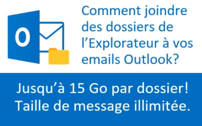 Comment attacher des dossiers aux courriels Outlook?