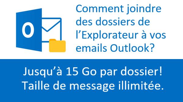 Comment attacher des dossiers aux courriels Outlook?