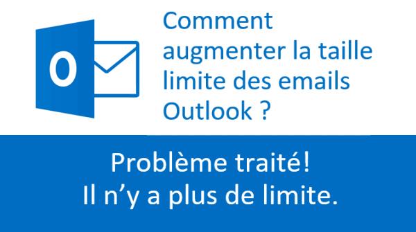 Taille maximum des emails Outlook: Plus de limite!