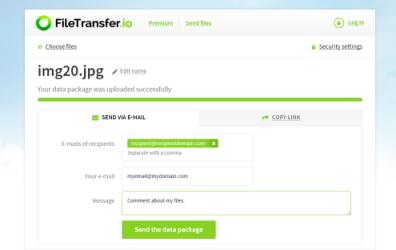 Une alternative à FileTransfer.io (basée sur Outlook et OneDrive) pour les transferts de gros fichiers